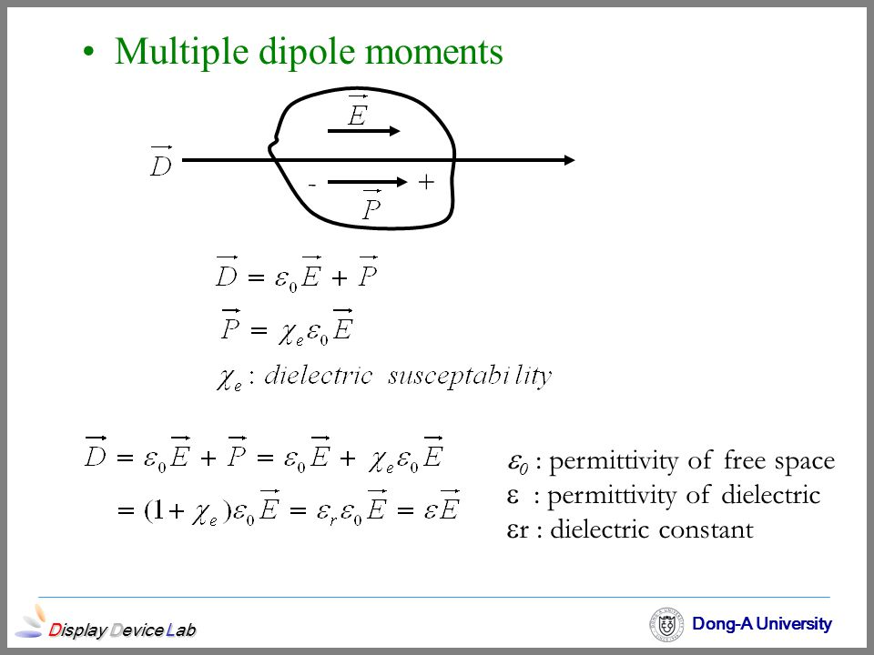 Multiple dipole moments