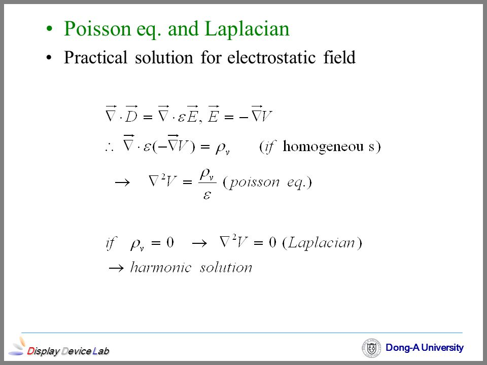 Poisson eq. and Laplacian