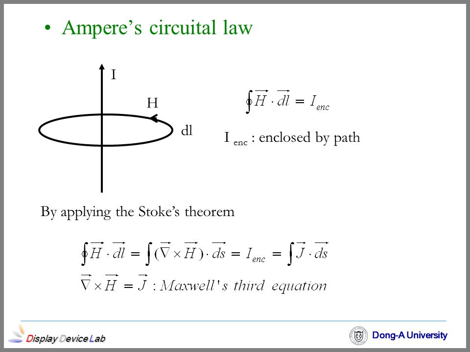 By applying the Stoke's theorem