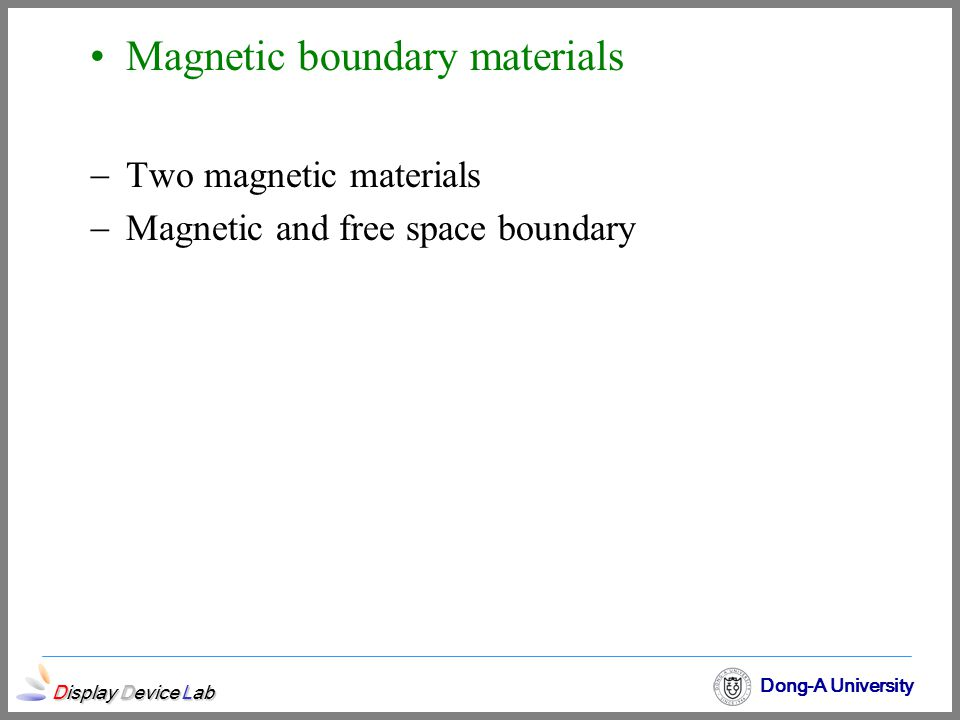 Magnetic boundary materials