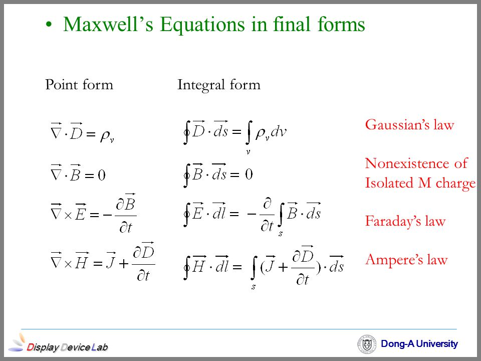 Maxwell's Equations in final forms