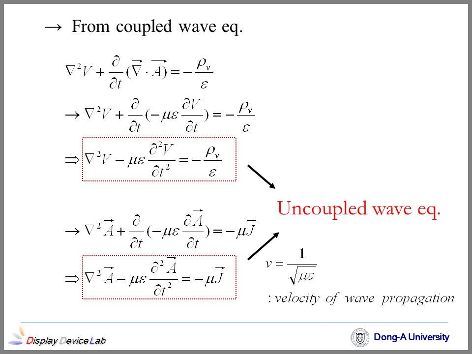 From coupled wave eq. Uncoupled wave eq.