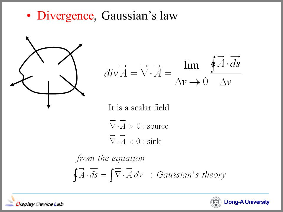Divergence, Gaussian's law