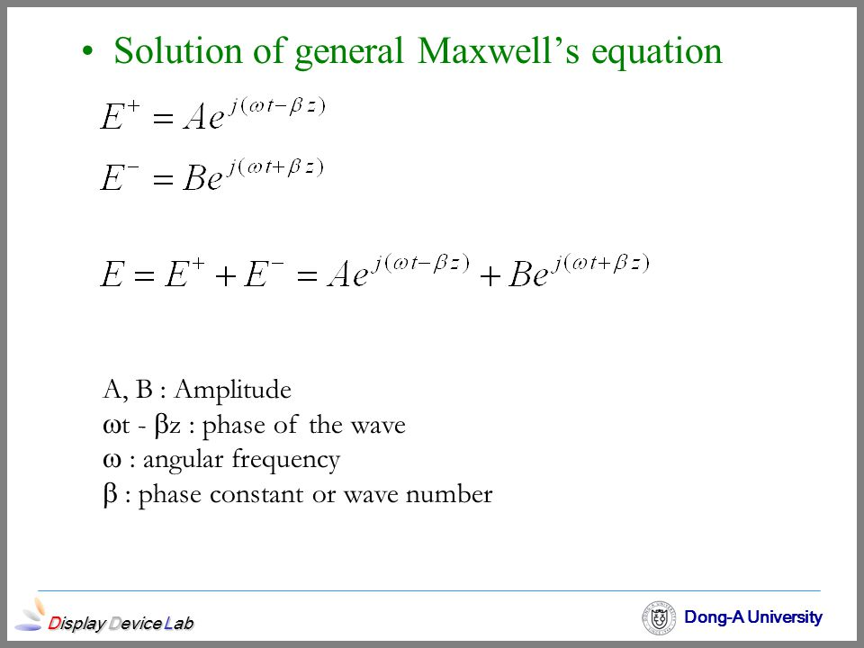 Solution of general Maxwell's equation