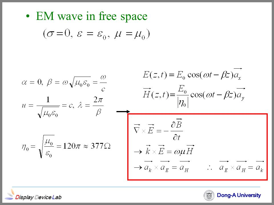 EM wave in free space