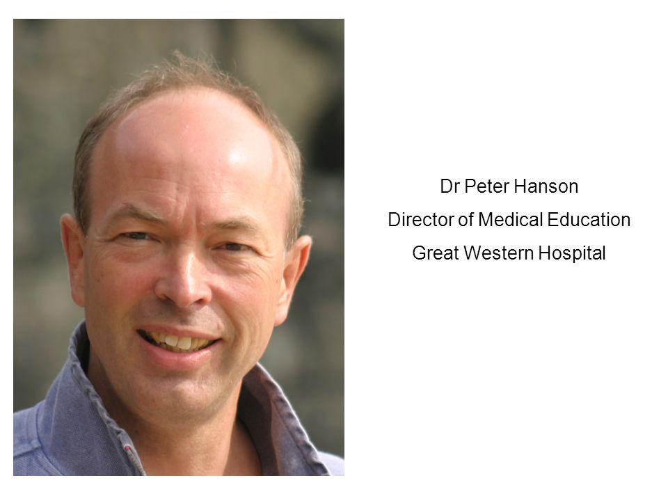 Director of Medical Education Great Western Hospital