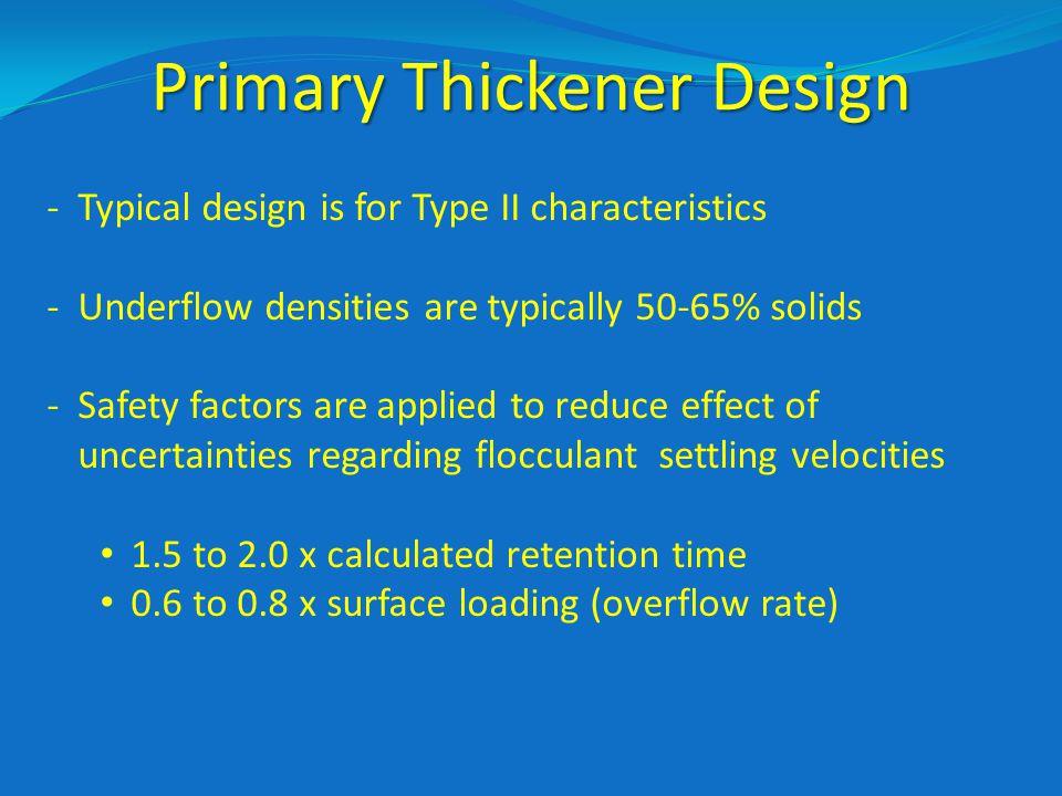 Primary Thickener Design