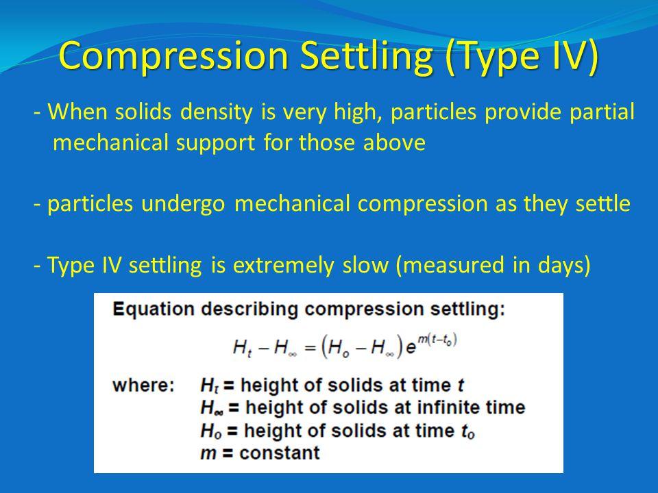 Compression Settling (Type IV)