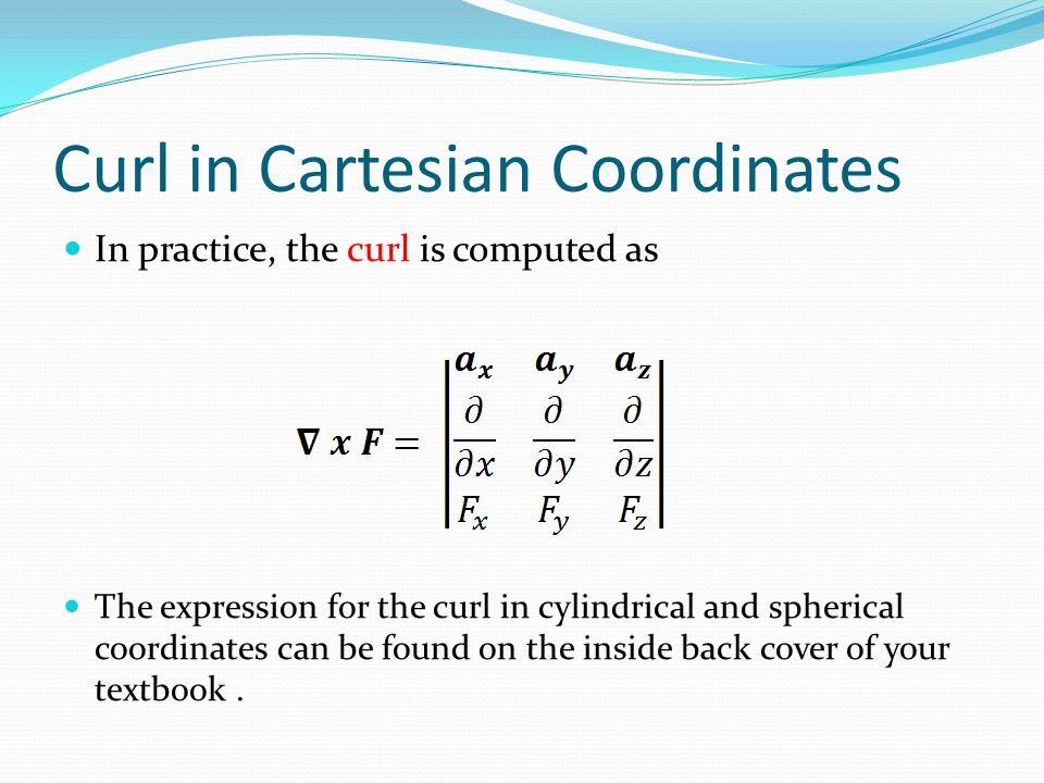Curl in Cartesian Coordinates