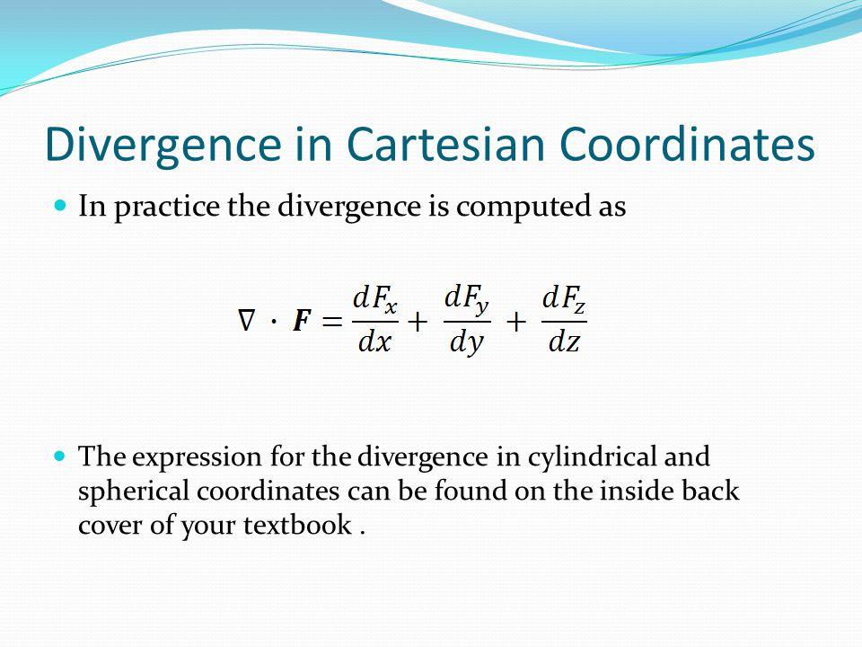 Divergence in Cartesian Coordinates