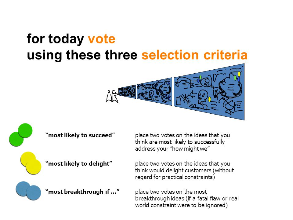using these three selection criteria