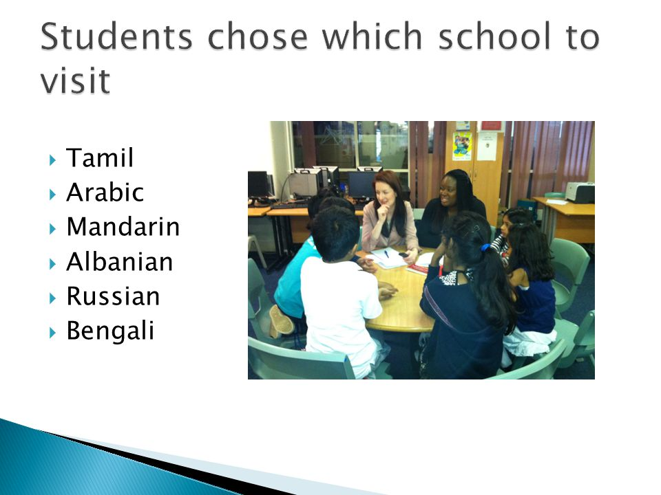 Students chose which school to visit