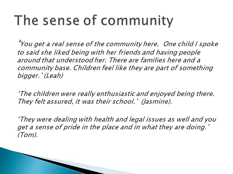 The sense of community