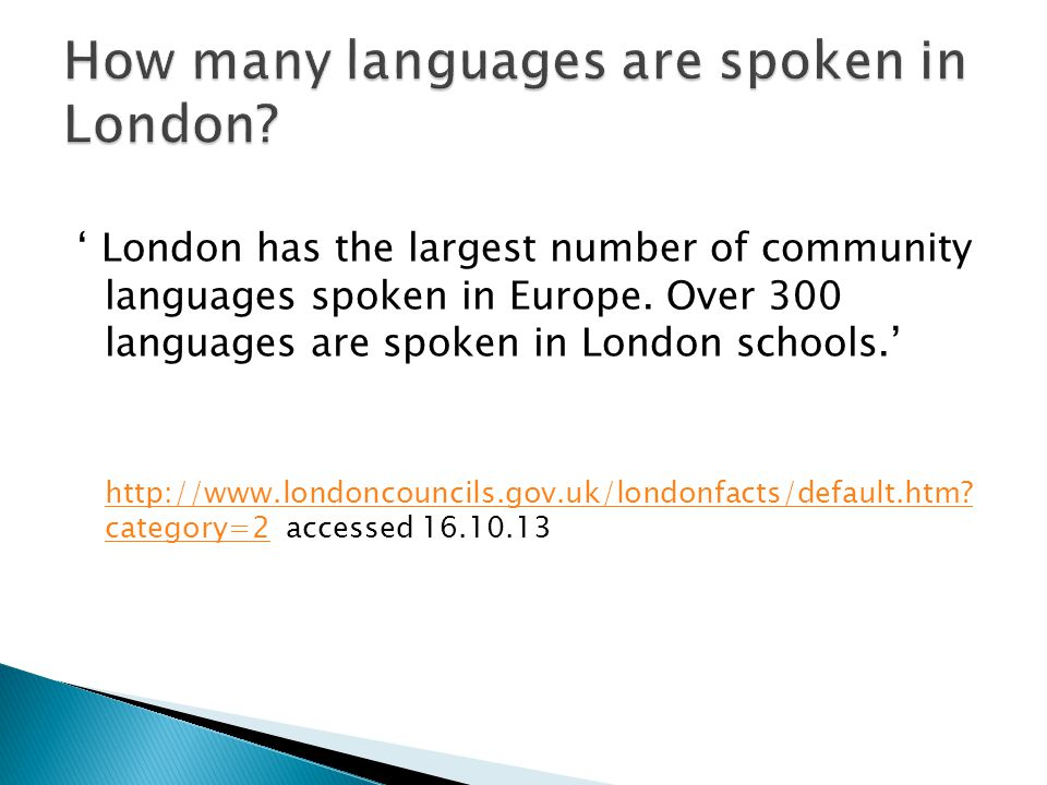 How many languages are spoken in London