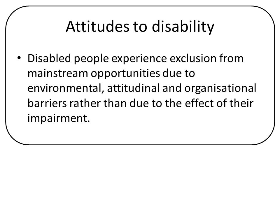 Attitudes to disability