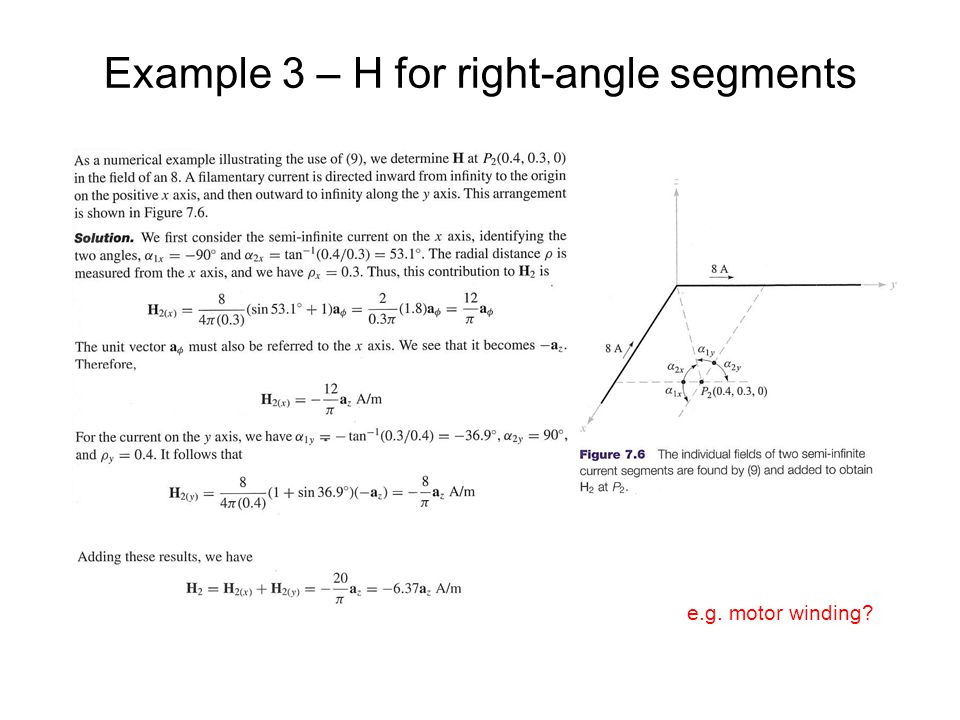 Example 3 – H for right-angle segments