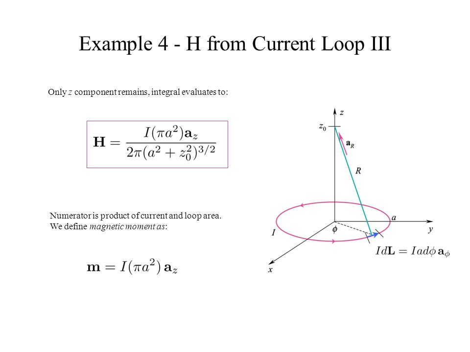 Example 4 - H from Current Loop III