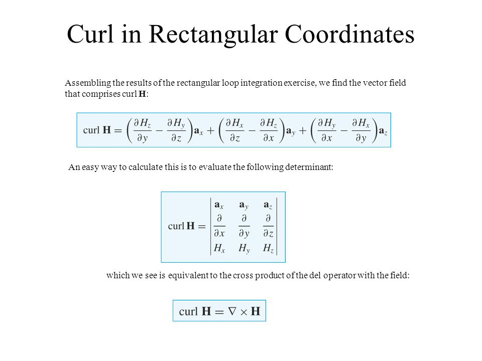 Curl in Rectangular Coordinates