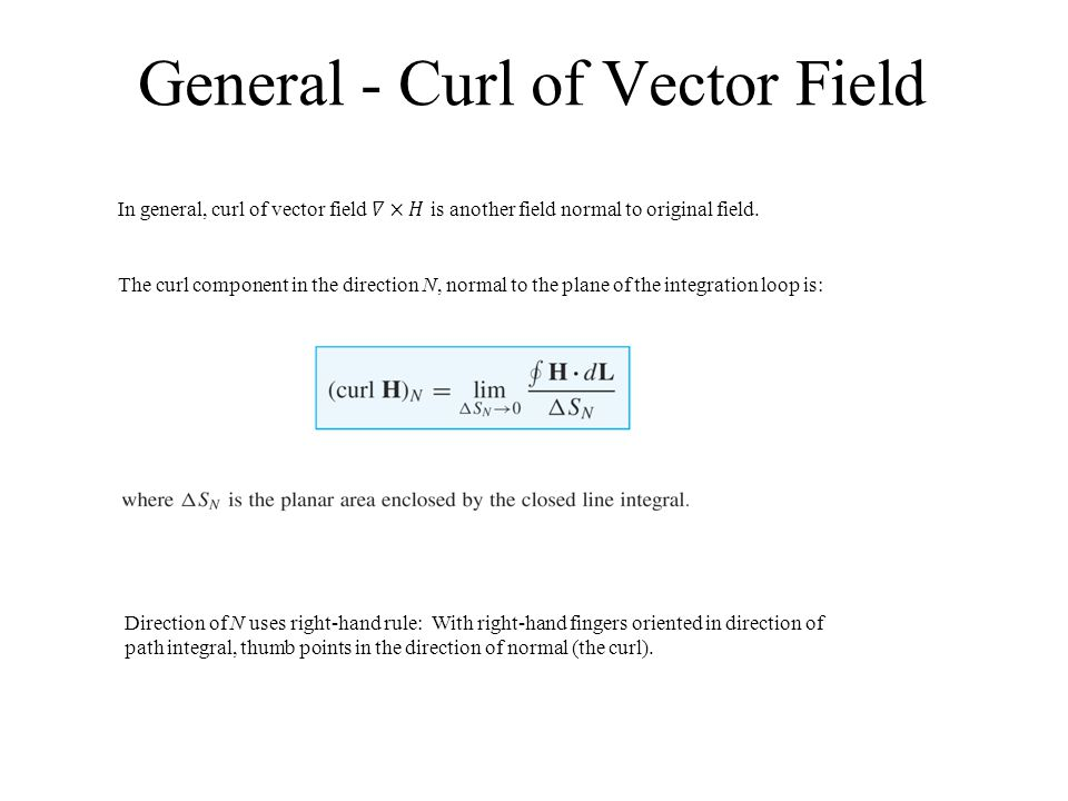 General - Curl of Vector Field