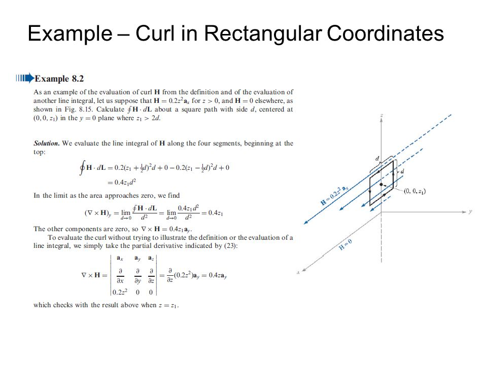 Example – Curl in Rectangular Coordinates