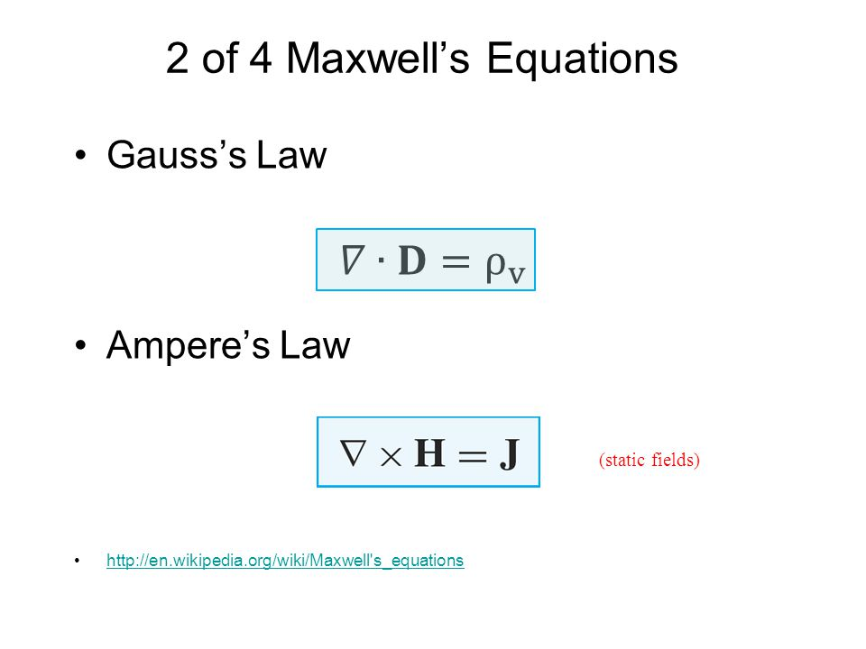 2 of 4 Maxwell's Equations
