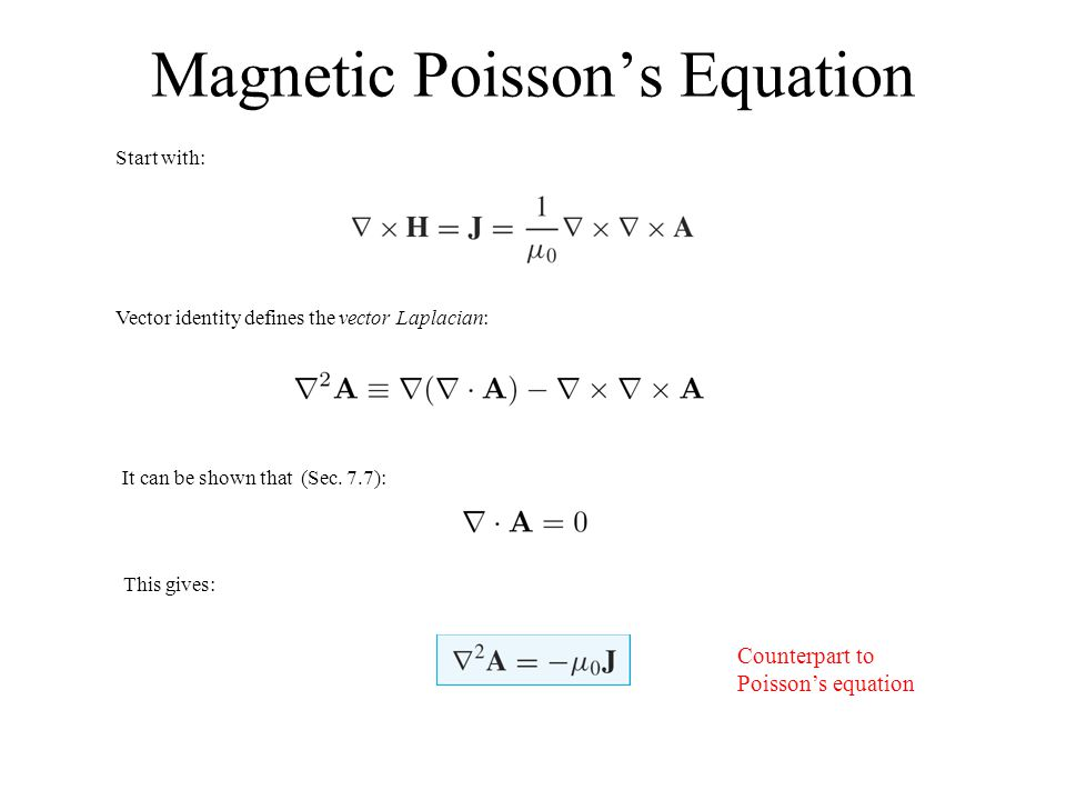 Magnetic Poisson's Equation