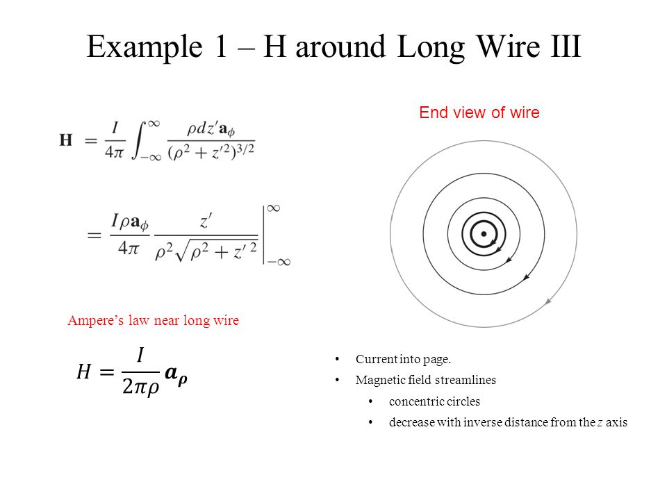 Example 1 – H around Long Wire III