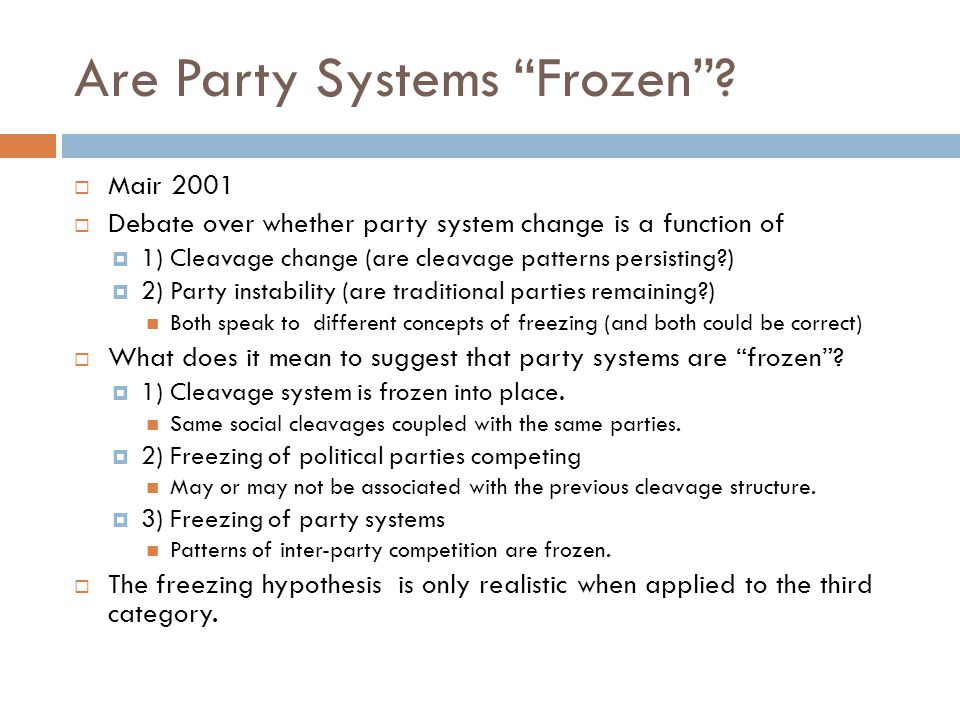 Are Party Systems Frozen