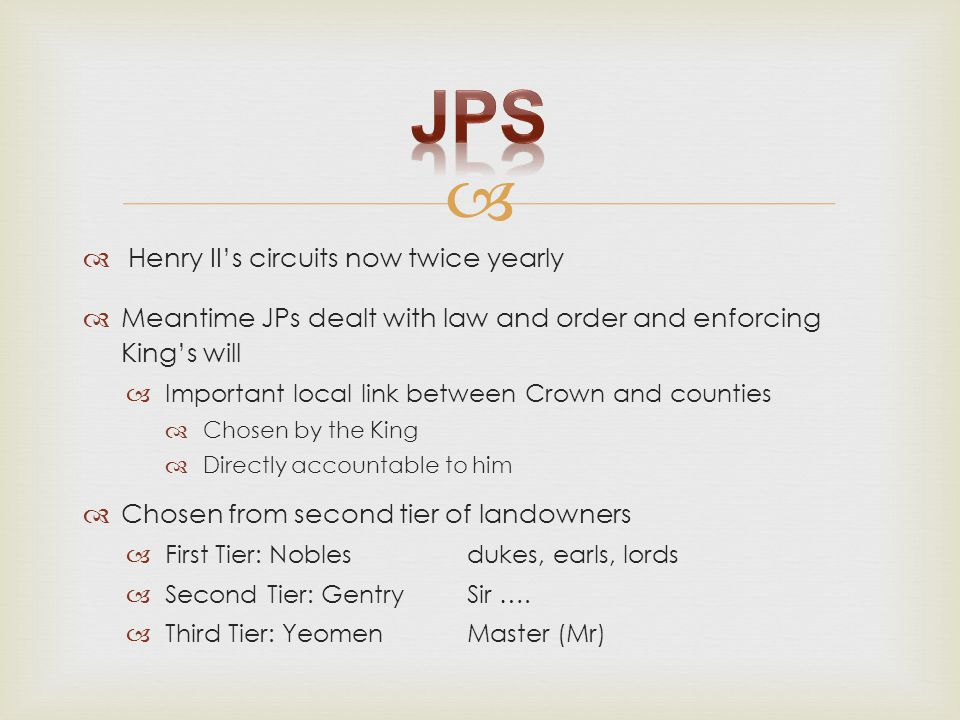 JPs Henry II's circuits now twice yearly