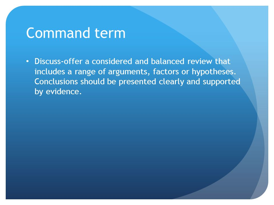 Command term