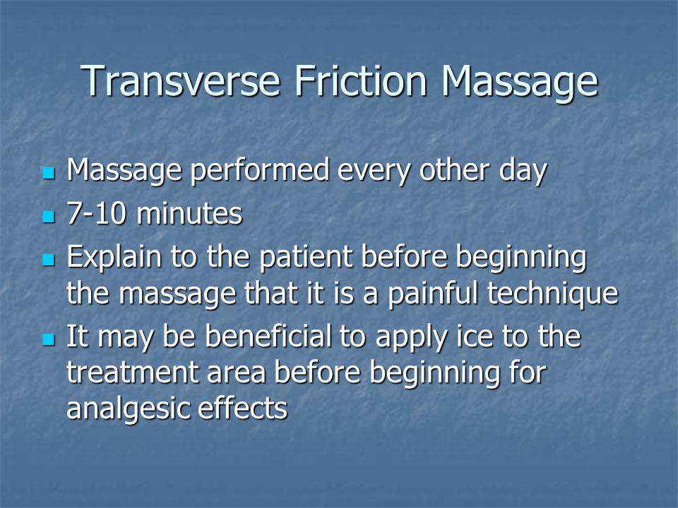 Transverse Friction Massage