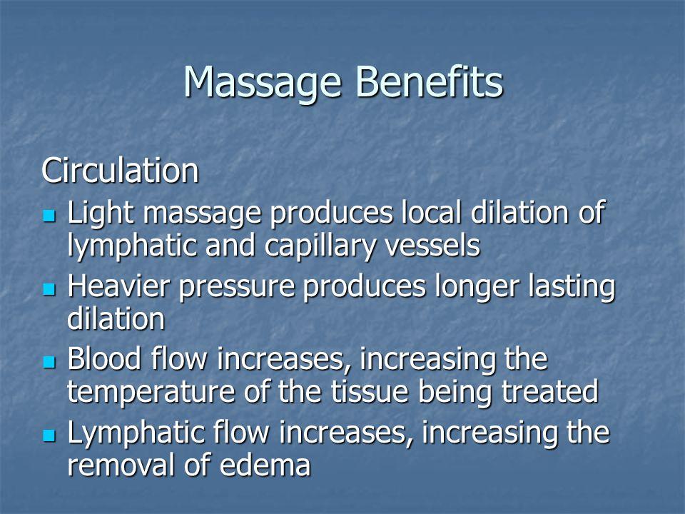 Massage Benefits Circulation