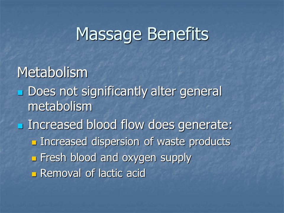 Massage Benefits Metabolism