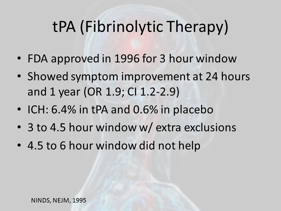 tPA (Fibrinolytic Therapy)