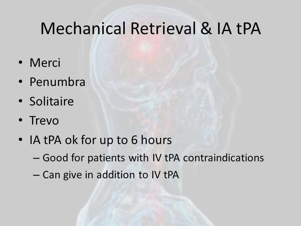 Mechanical Retrieval & IA tPA