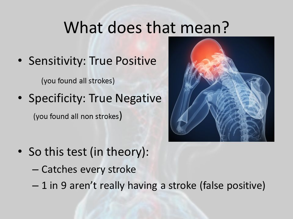 What does that mean Sensitivity: True Positive