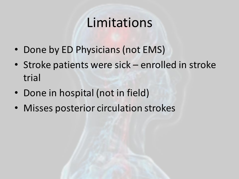 Limitations Done by ED Physicians (not EMS)