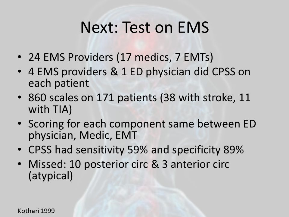 Next: Test on EMS 24 EMS Providers (17 medics, 7 EMTs)