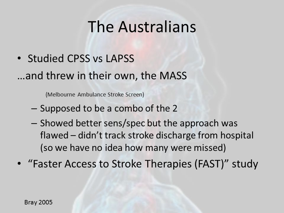 The Australians Studied CPSS vs LAPSS