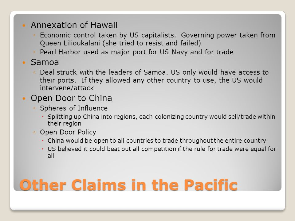 Other Claims in the Pacific