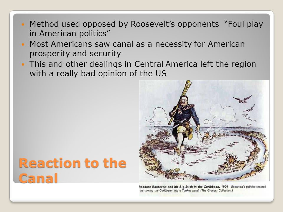 Method used opposed by Roosevelt's opponents Foul play in American politics