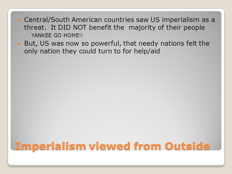Imperialism viewed from Outside