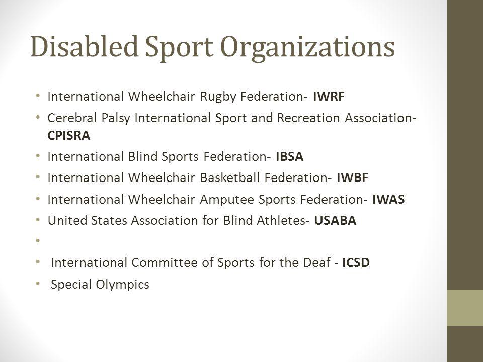 Disabled Sport Organizations