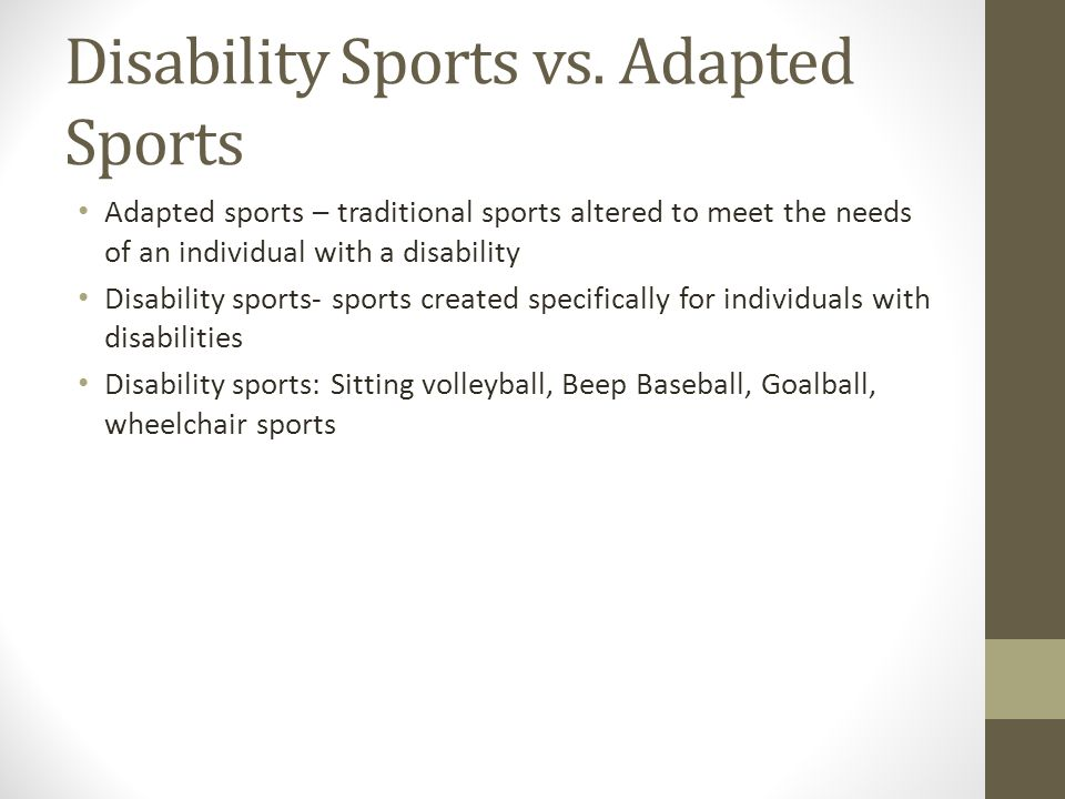 Disability Sports vs. Adapted Sports