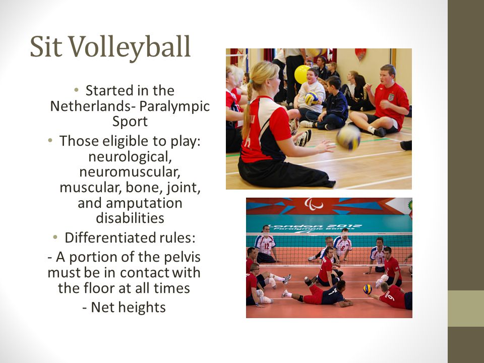 Sit Volleyball Started in the Netherlands- Paralympic Sport