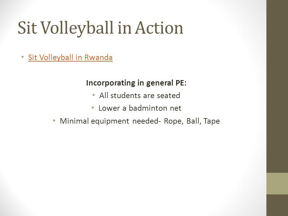 Sit Volleyball in Action