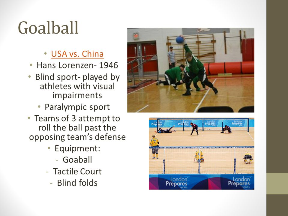 Goalball USA vs. China Hans Lorenzen- 1946