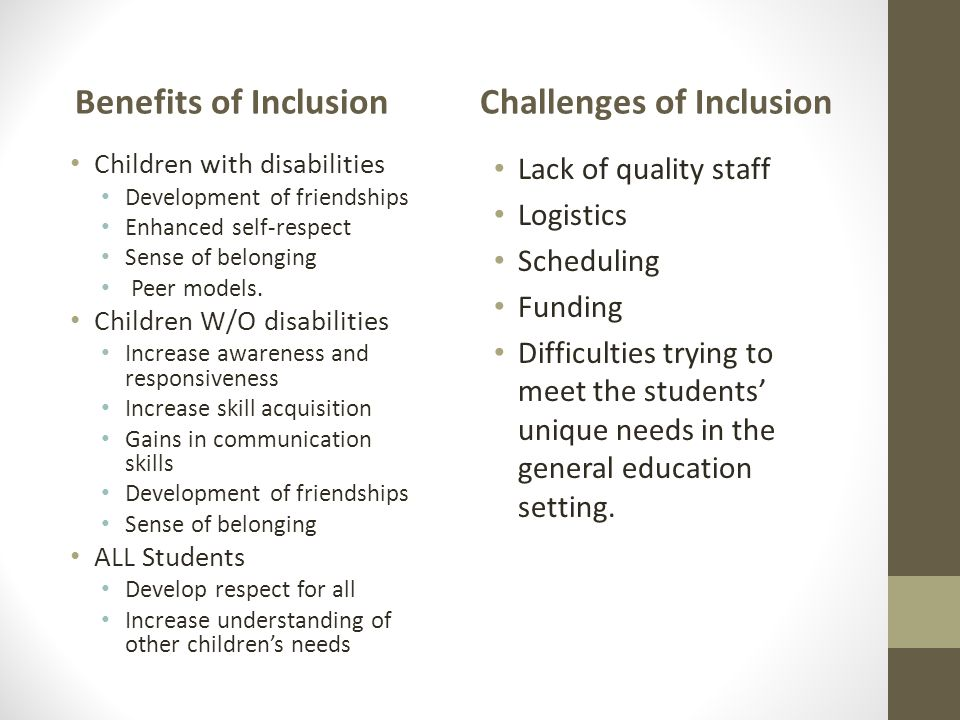 Challenges of Inclusion
