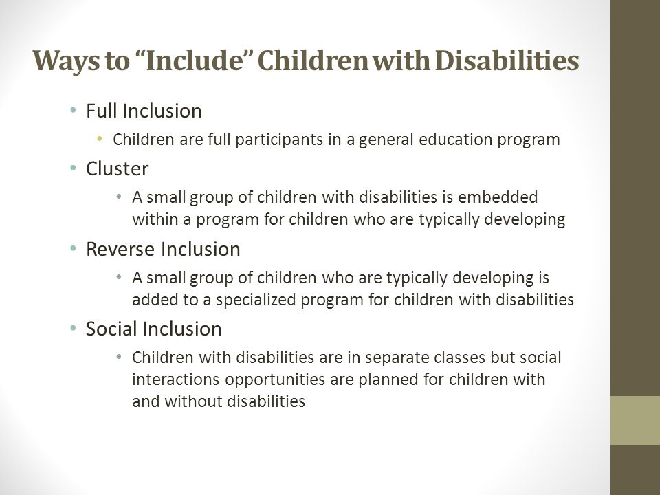 Ways to Include Children with Disabilities