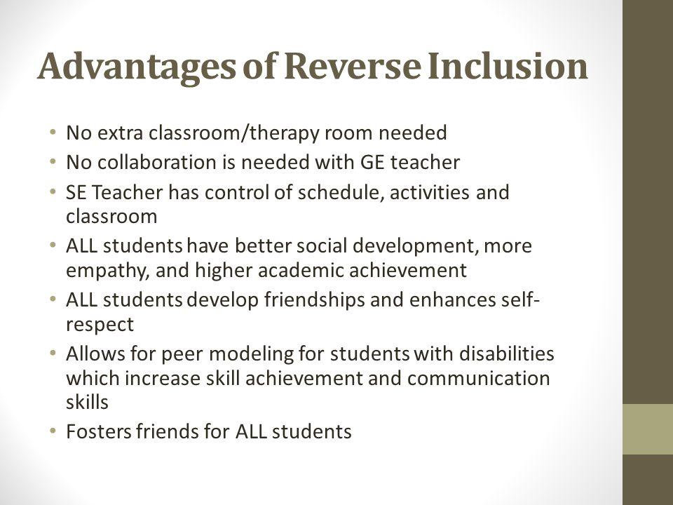 Advantages of Reverse Inclusion